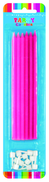 Candle Long 12 Pack - Pink