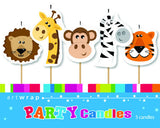 CANDLE 5 PACK - JUNGLE ANIMALS