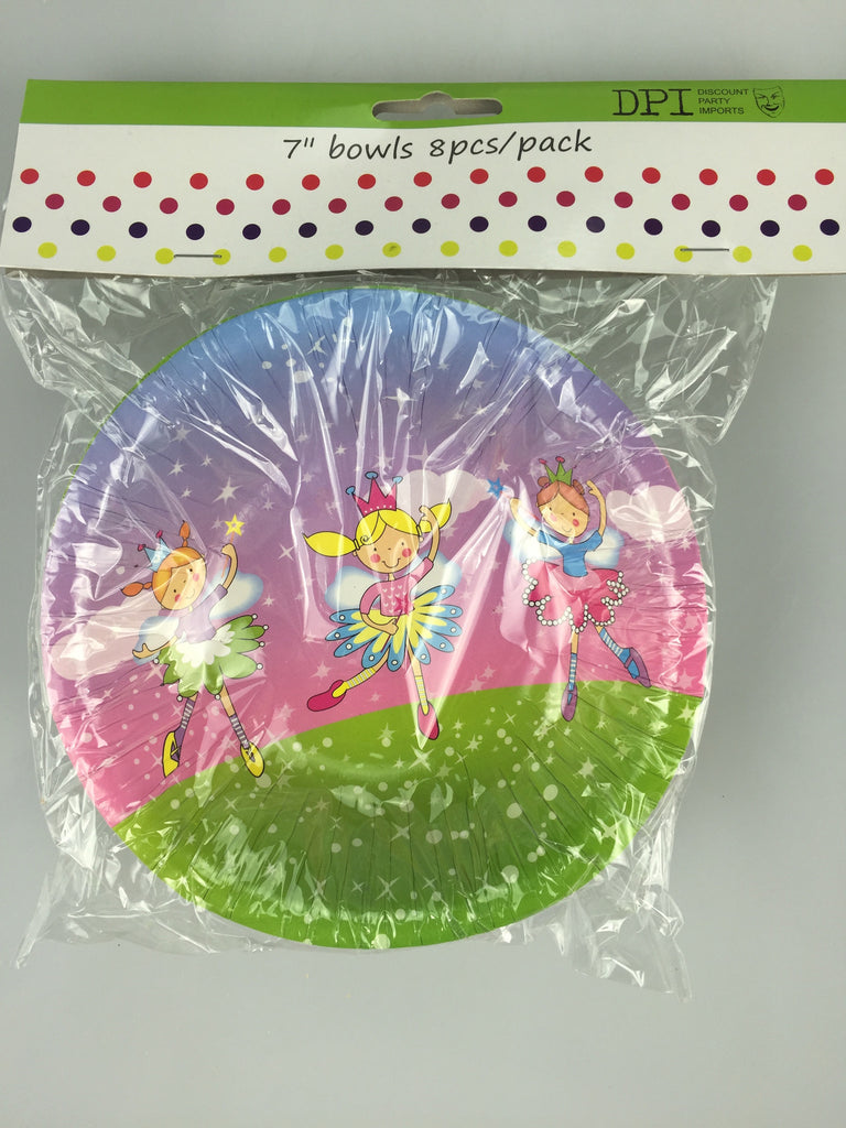 "FAIRIES 7"" BOWLS 8PCS"