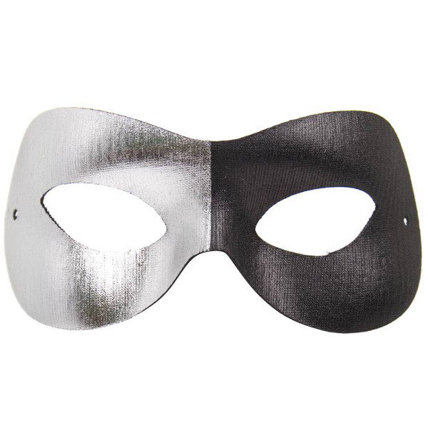 EYE MASK FASHION BI COLOUR BLACK/SILVER