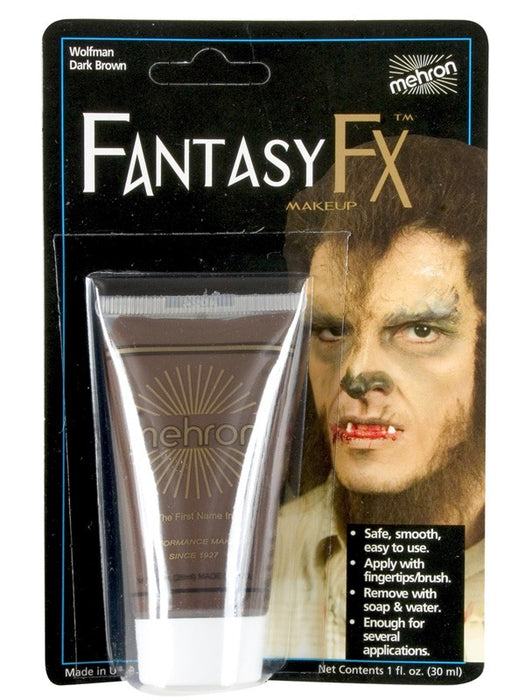 Fantasy FX Make Up Werewolf Dark Brown 30ml