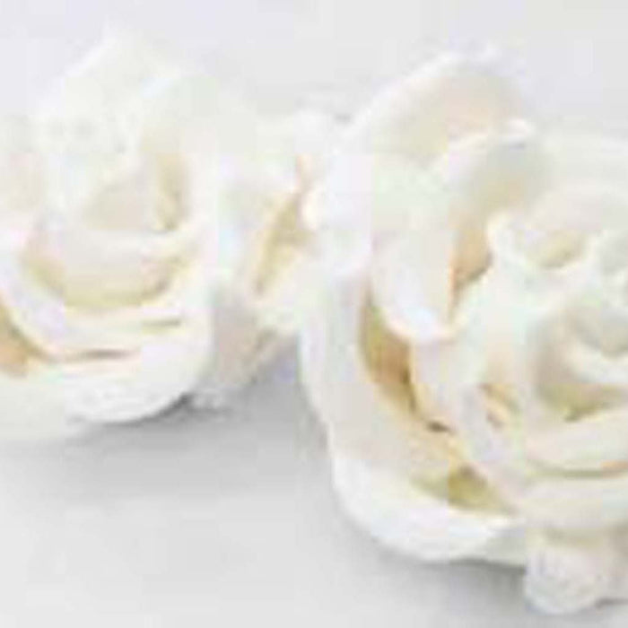 Jumbo Classic Rose (16) White - Sugar Flowers