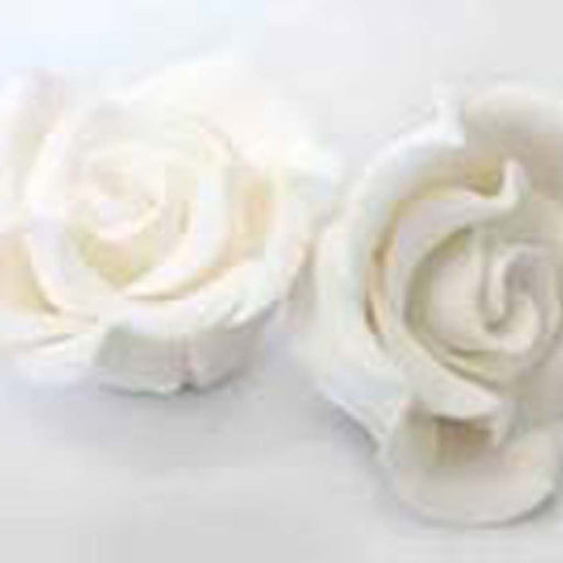 Large Classic Rose (25) White - Sugar Flowers