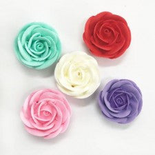 Swirl Rose Jumbo Assorted (25) | Sugar Flowers
