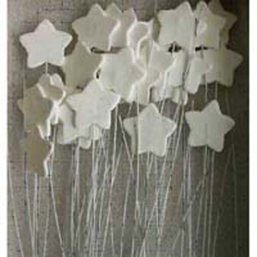 Icing Stars On Wire - Sugar Decorations