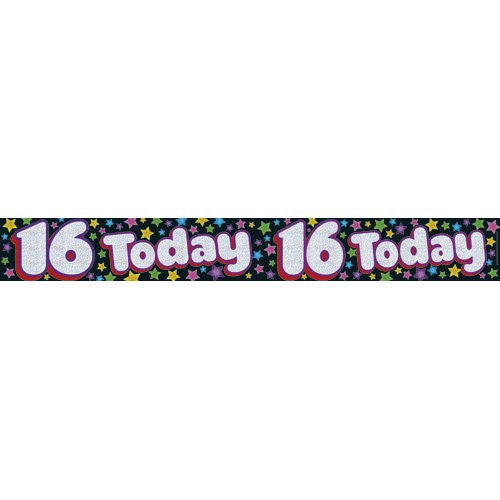 Banner 2.6m Happy 16th Birthday