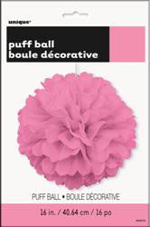 PAPER PUFF BALL DECO HOT PINK