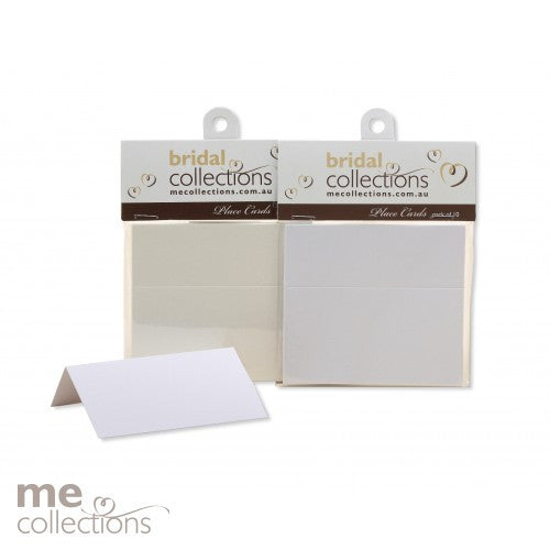 Place Card Pack of 10 Metallic White
