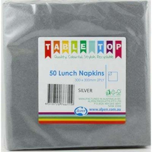 Lunch Napkin Pack 50 - Silver
