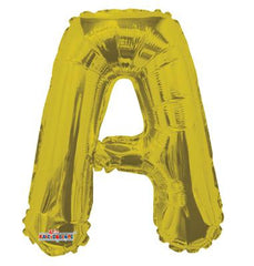 "14"" FOIL BALLOON LETTER A GOLD"