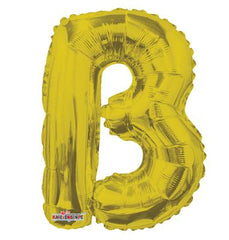 "14"" FOIL BALLOON LETTER B GOLD"