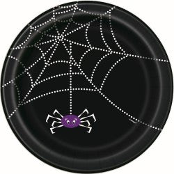 SMALL SPIDER WEB PLATES - PACK OF 8