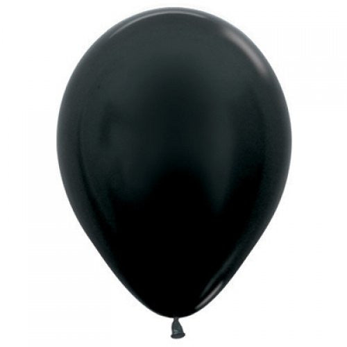 Decrotex 100 Pack Metallic Black 30cm Balloon