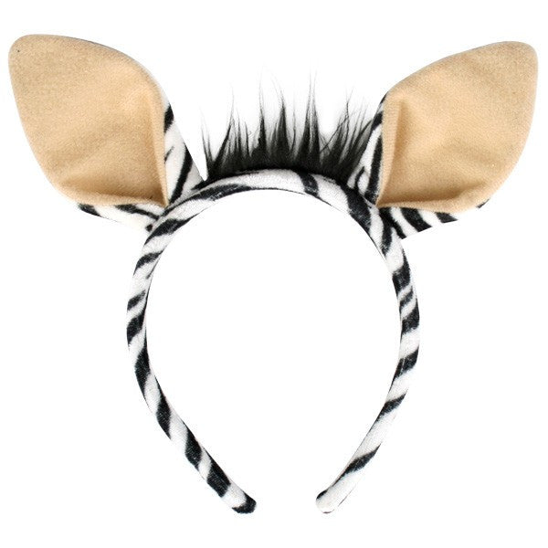 Zebra Ears On Headband