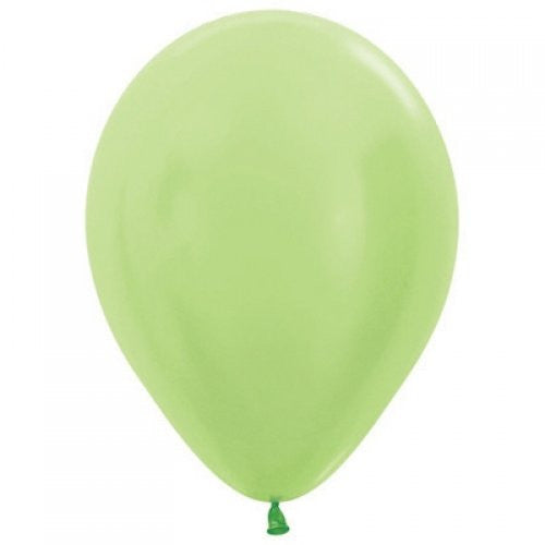 Decrotex 100 Pack Pearl Light Lime 30cm Balloon
