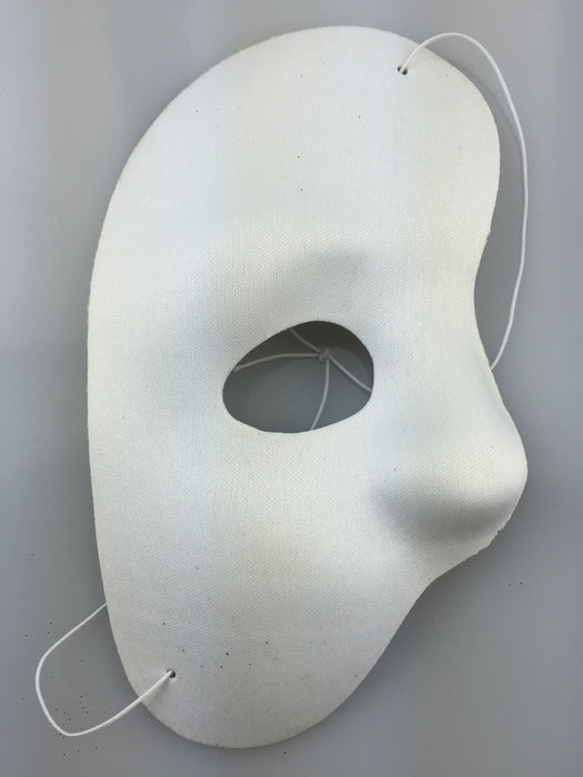 Half Face Phantom Mask White