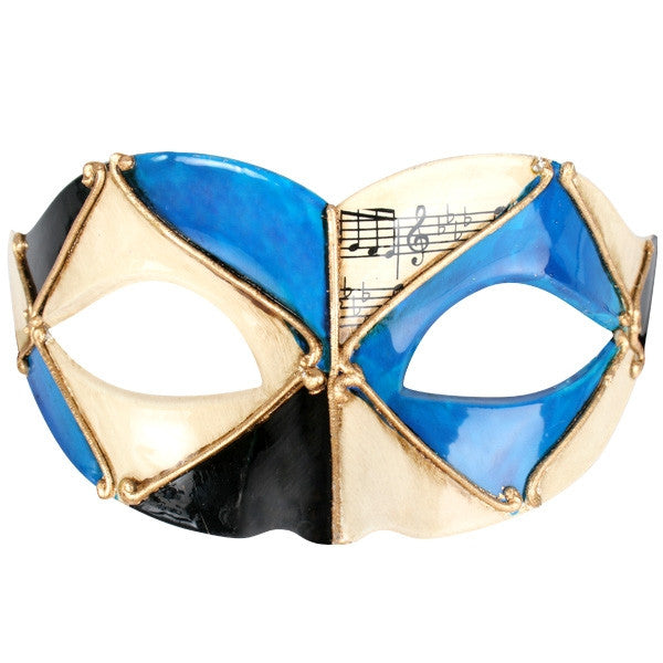 EYE MASK PIETRO - BLUE AND GOLD