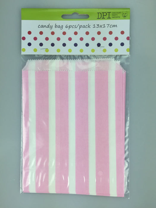 LIGHT PINK CANDY BAGS 6 PACK