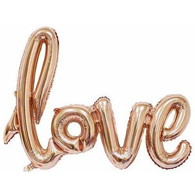 100CM FOIL BALLOON LOVE SCRIPT - ROSE GOLD