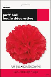 PAPER PUFF BALL DECO RED