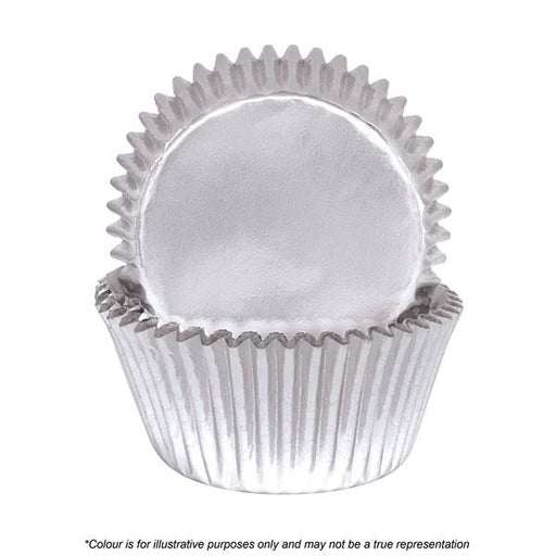 Cakecraft| 408 Silver Foil Baking Cups | Pack Of 72