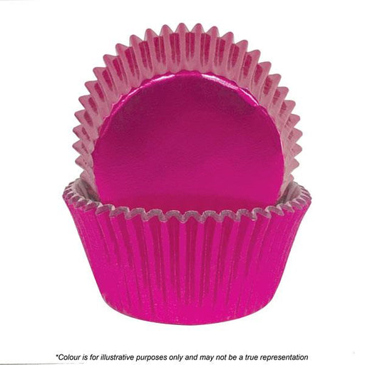 Cakecraft | 408 Pink Foil Baking Cups | Pack of 72