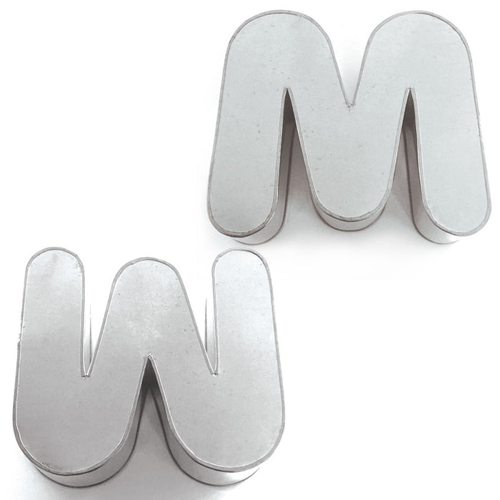 SMALL ALPHABET PAN - M OR W - HIRE