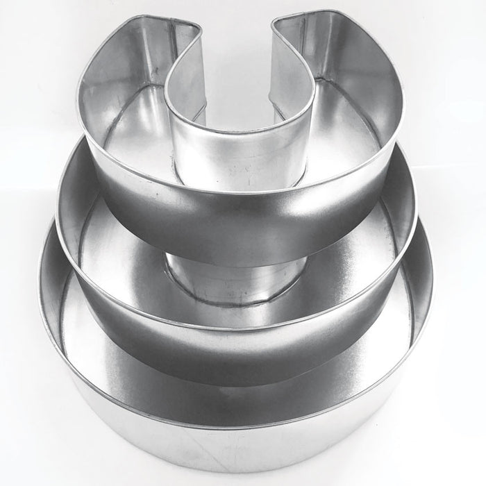HORSE SHOE PAN SET - 3 PIECE - HIRE