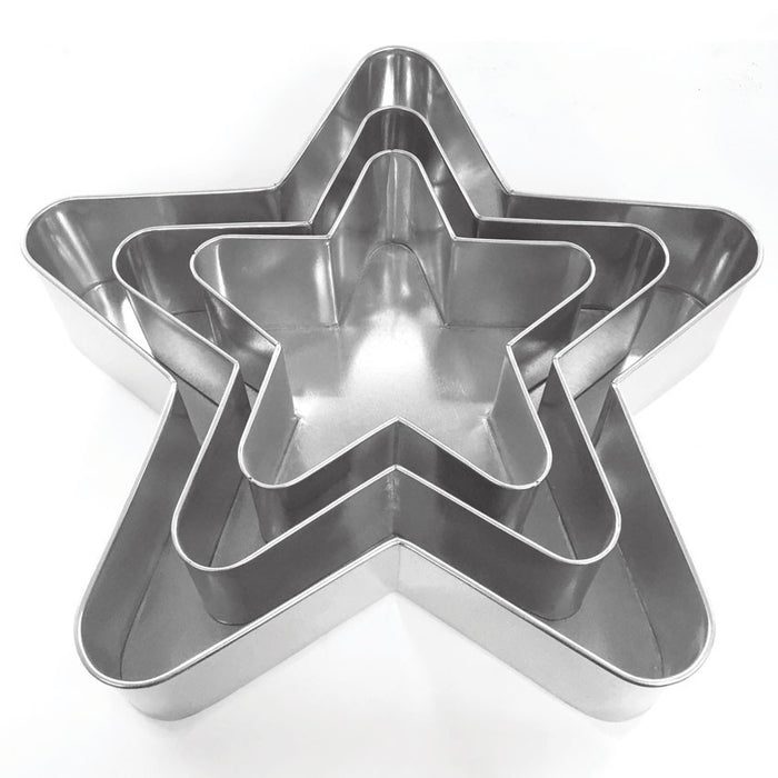 5 POINT STAR PAN SET - 3 PIECE - HIRE