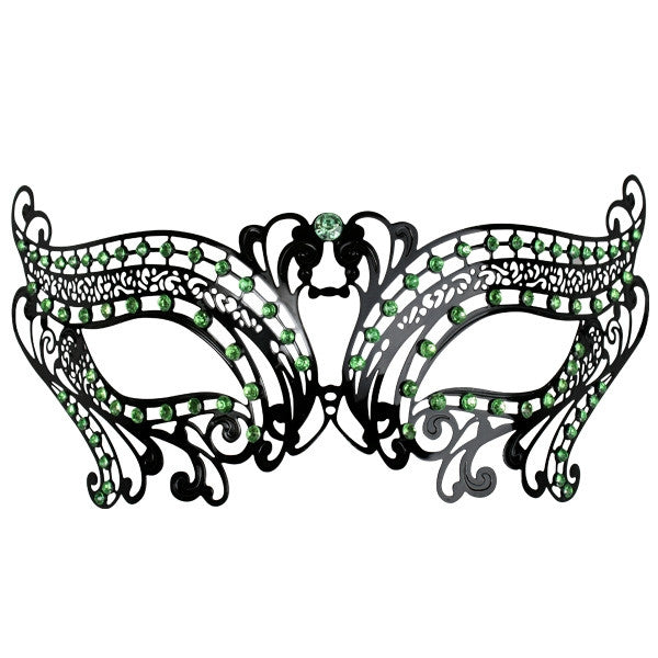 EYE MASK TOULOUSE METAL WITH GREEN GEMS