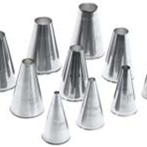 Ateco - 10pc Plain Round Tube Pastry Set