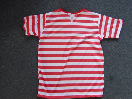 WALLY T-SHIRT RED WHITE STRIPE LARGE