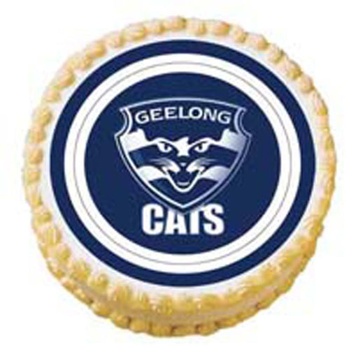 Afl Geelong Round Edible Image