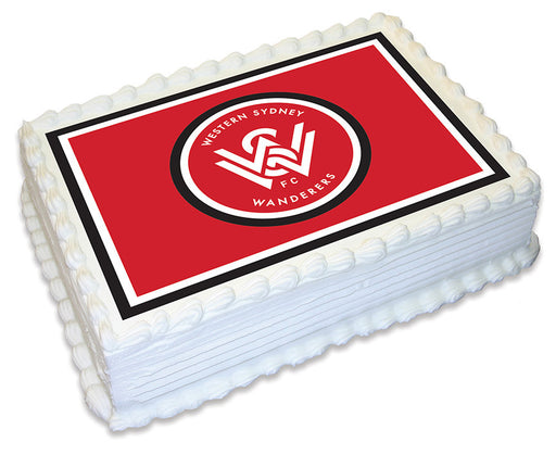 A-League Western Sydney Wanderers - A4 Edible Icing Image - 29.7cm X 21cm (Approx.)