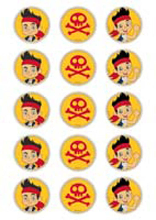 Disney Jake And The Never Land Pirates 2 Inch/5cm Cupcake Image Sheet - 15 Per Sheet