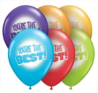Qualatex Balloons You're the Best 28cm