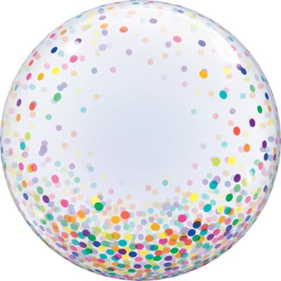 Assorted Confetti Coloured 24''/61cm Bubble Balloon