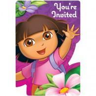 DORA THE EXPLORER INVITATIONS 8 PK