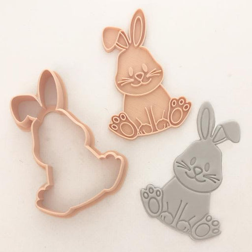 Little Biskut Cute Bunny Embosser Cookie Cutter
