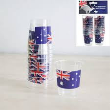 10 Pack Australia Day Shot Glasses