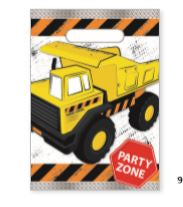 Construction Party Loot Bag 8Pk