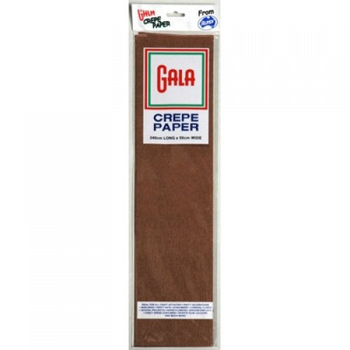 Gala Crepe Paper Dark Brown 240cmx50cm