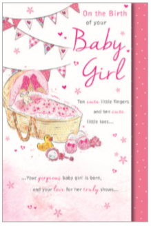 Baby Girl Elegance Card