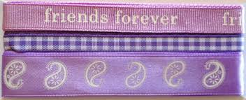 Ribtex Scrapbook Ribbon Lilac Friends Forever