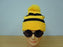 BLACK & YELLOW HAT & GLASSES SET WHERES WALLY WALDOW