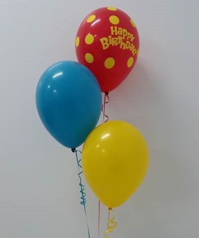 3 Balloon Bouquet (1 Print, 2 Plain with Weight)