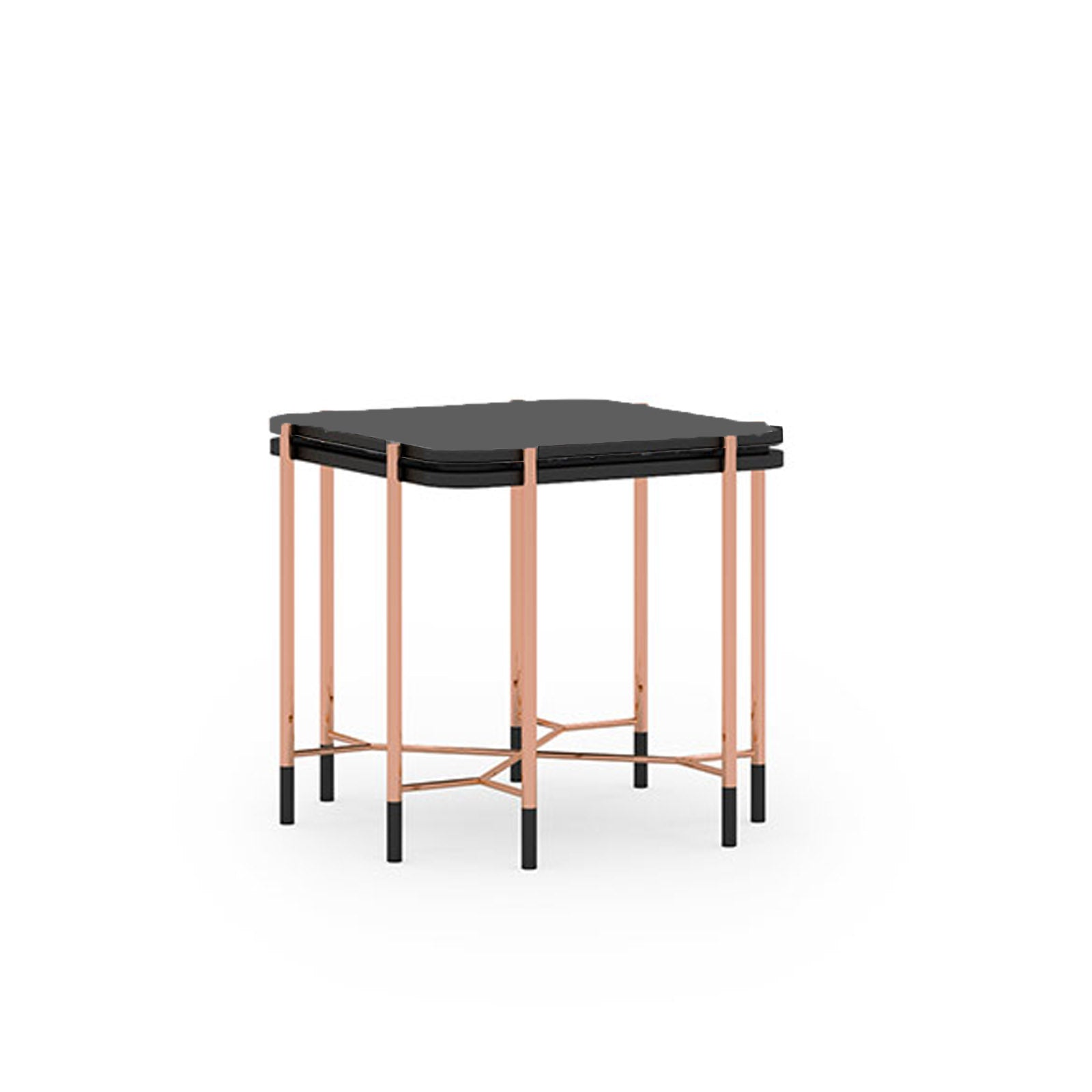 Pre-Order 40 days delivery Dali  side table  with glass top Dali-Side -  اطلب مسبقًا 60 يومًا منضدة دالي الجانبية ذات السطح الزجاجي - Shop Online Furniture and Home Decor Store in Dubai, UAE at ebarza