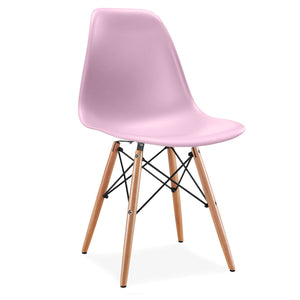 Dining Chair- Plastic- PC-016WP-Wood-N