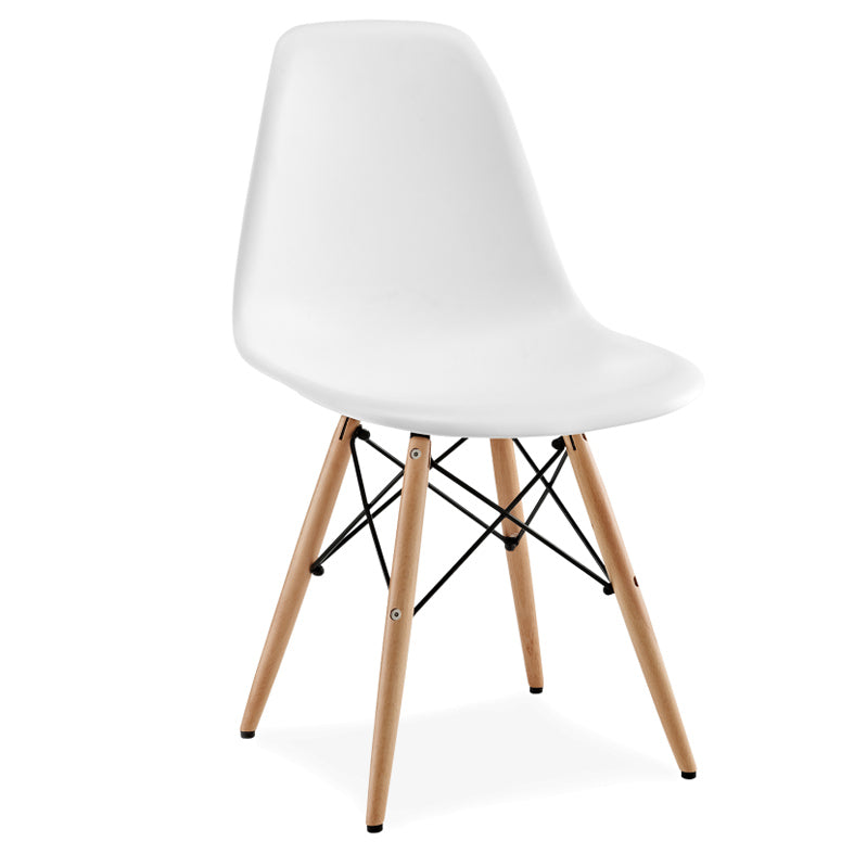Dining Chair- Plastic- PC-016WP-Wood-N - ebarza