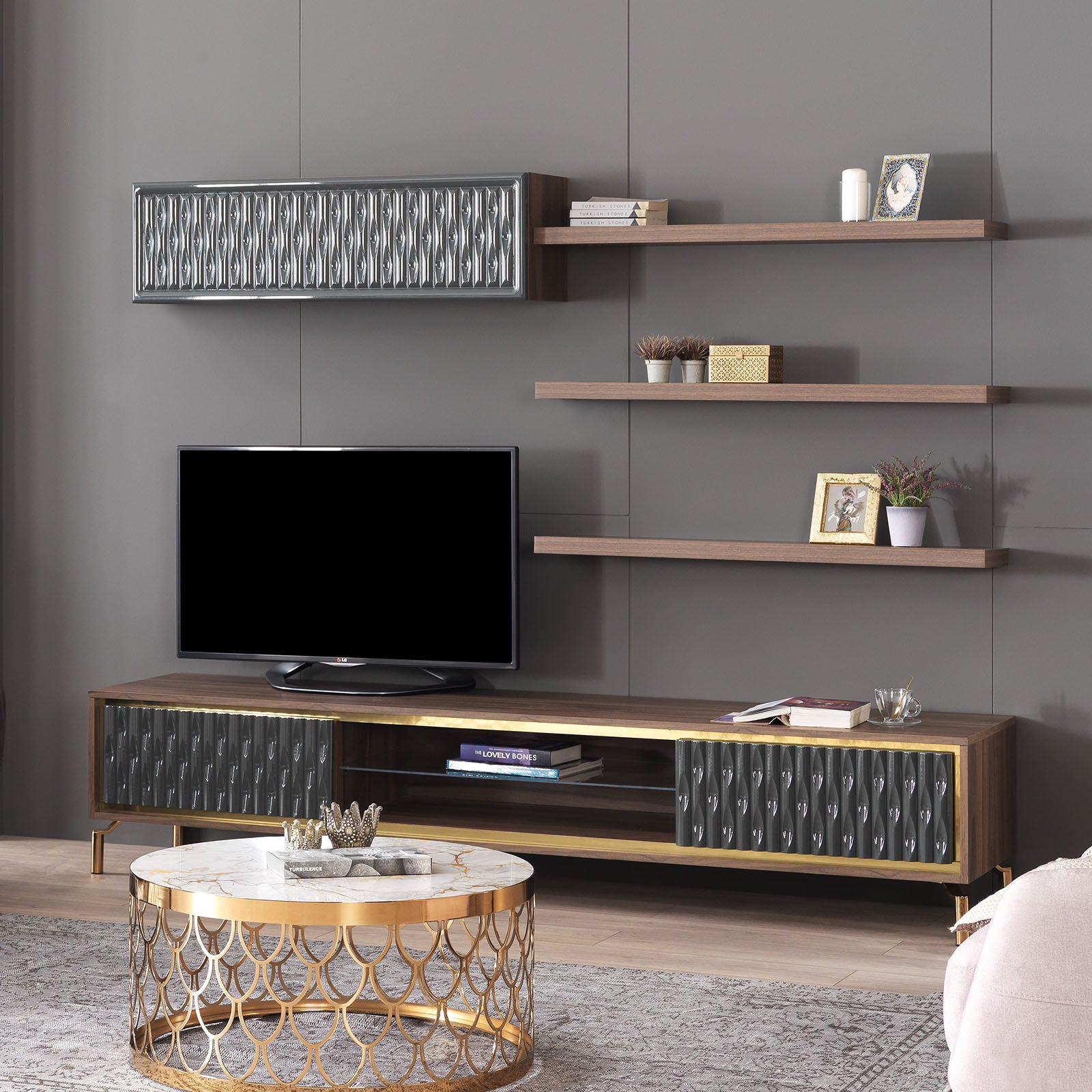 Gold TV unit   GOLD0052